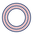 usa star pattern round frame american vector image vector image