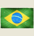 vintage brazil flag poster background vector image