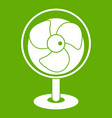 vintage electric fan icon green vector image vector image