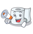 with megaphone tissue character cartoon style vector image vector image