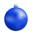 xmas blue ball icon realistic style vector image