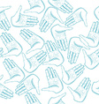 Human Hands Palm Seamless Pattern vector image