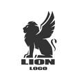 winged lion logo symbol vector image
