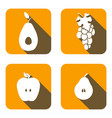 set icons of friuts vector image