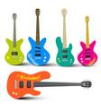 Guitars and Bass Guitars Set Abstract Musical vector image