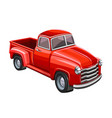 red truck on white background vector image