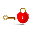 The key to the heart vector image