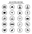 20 hotel services icons Isolated vector image vector image