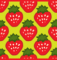abstract seamless red green strawberry background vector image
