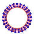 american flag stylized symbol logo emblem vector image