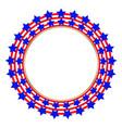 american flag stylized symbol logoemblem vector image vector image