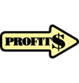 arrow profit chart eps10 vector image