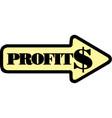 arrow profit chart eps10 vector image vector image