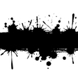 Background with ink strip vector image vector image