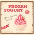 banner frozen yogurt vector image vector image