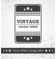 Black label with retro vintage styled design vector image vector image
