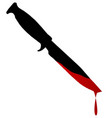 blooded bowie knife vector image vector image