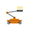 building platform icon flat style vector image