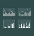 business charts collection vector image vector image