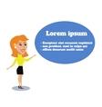Business woman public presentation vector image vector image