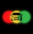 car silhouette and traffic light spots vector image vector image