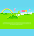 cartoon meadow as game background vector image vector image