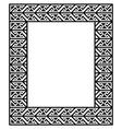 Celtic Key Pattern - frame border vector image vector image
