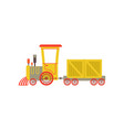 children cute cartoon yellow toy cargo train vector image vector image