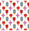 chinese lantern light paper holiday celebrate vector image