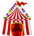 circus tent cartoon vector image vector image