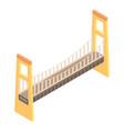 city bridge icon isometric style vector image vector image