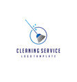cleaning broom logo design vector image