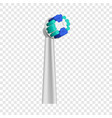 cleaning toothbrush icon realistic style vector image vector image