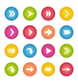 Colorful arrow icon circle web buttons vector image