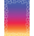 Colorful Gradient Frame vector image vector image