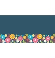 Colorful oriental flowers horizontal seamless vector image vector image