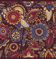 colorful persian paisley seamless pattern vector image