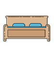 comfortable bed isolated icon vector image vector image