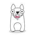 dog emoji template vector image