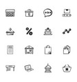 doodle business icons set vector image vector image
