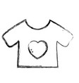 figure baby t-shirt and textile clothes vector image vector image
