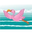 flamingo in flight vector image vector image