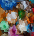 full color polygonal triangular pattern background vector image vector image