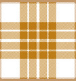 gold and white tartan plaid seamless pattern vector image vector image