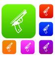 gun set collection vector image vector image