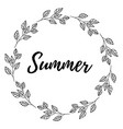 hand drawn of lettering summer card vector image