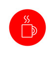 hot drink mug glass office outline red icon design vector image