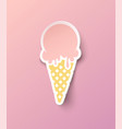 ice cream in paper style vector image