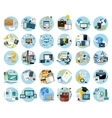 Icons set banners for business vector image vector image
