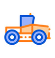 industry tractor vehicle thin line icon vector image